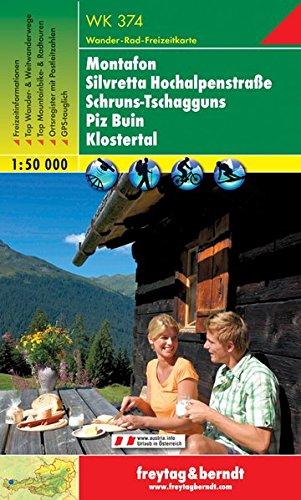 Montafon Silvretta Schruns Tschagguns Piz Buin Klostertal 1:50.000.