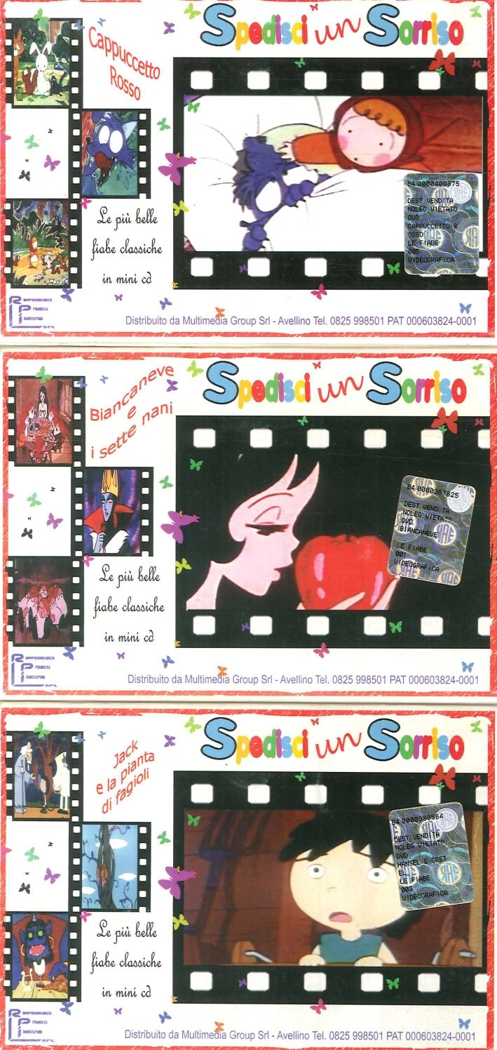 Le Piu Belle Fiabe in Mini CD. Jack e la Pianta di Fagioli. Biancaneve e i Sette Nani. Cappuccetto Rosso