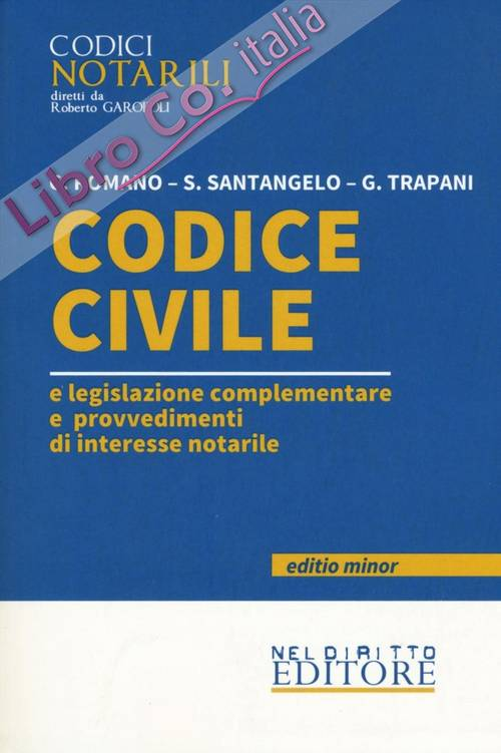 Codice civile e legislazione complementare e provvedimenti di interesse notarile. Ediz. minor