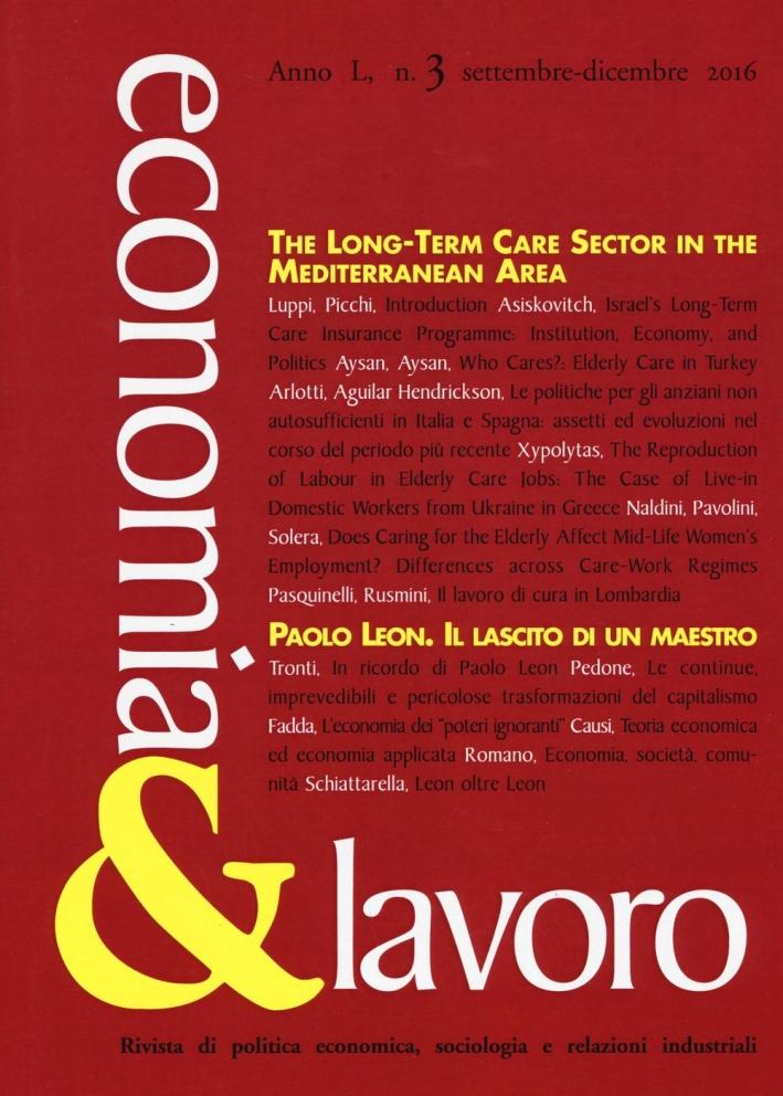 Economia & lavoro (2016). Vol. 3