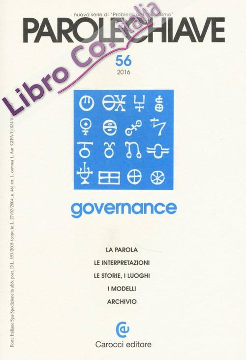 Parolechiave (2016). Vol. 56: Governance