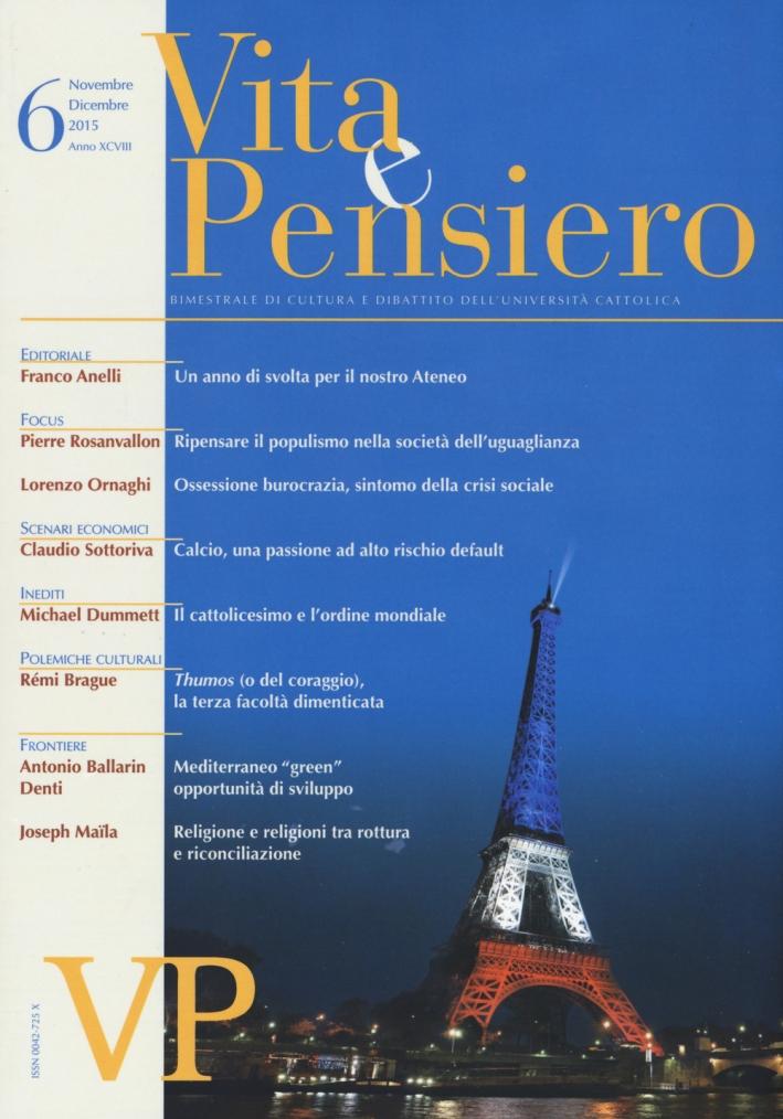 Vita e pensiero (2015). Vol. 6.