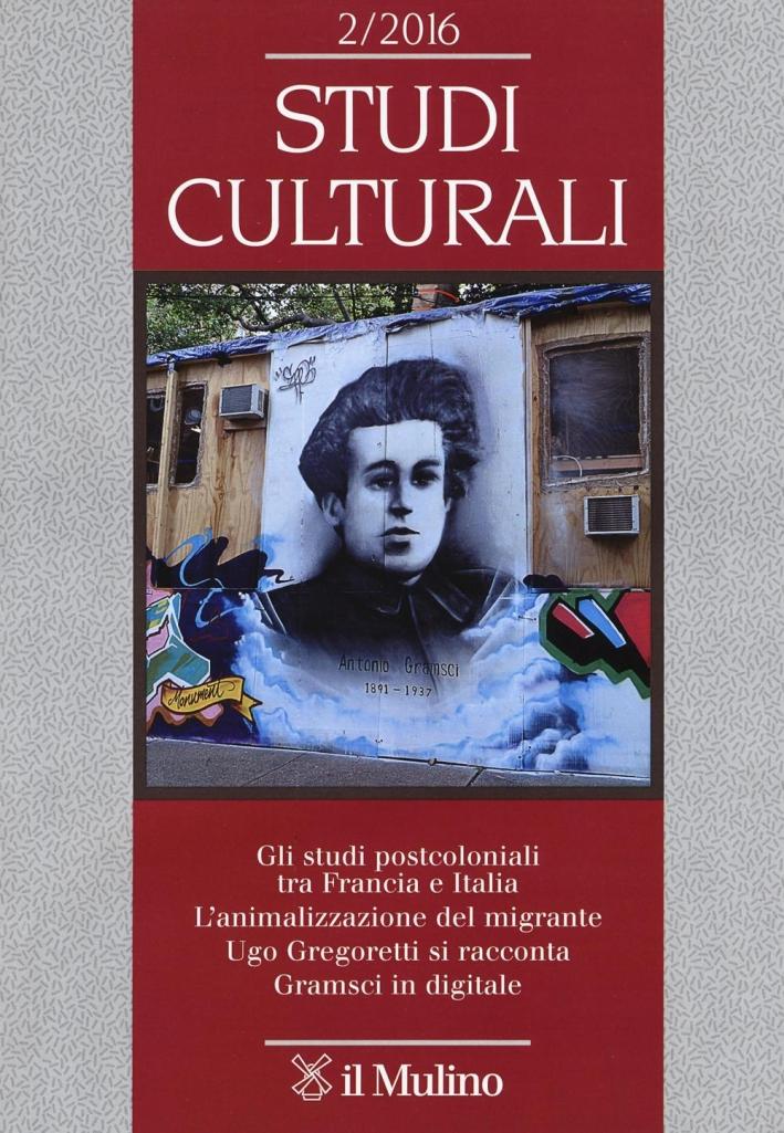 Studi culturali (2016). Vol. 2.