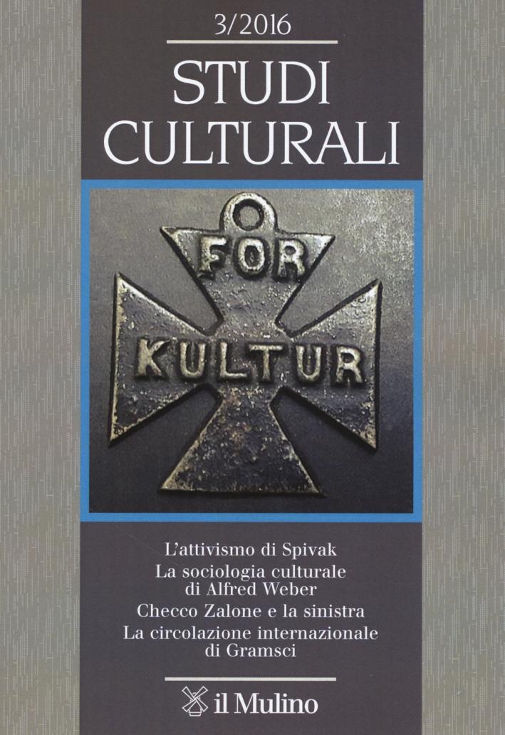 Studi culturali (2016). Vol. 3