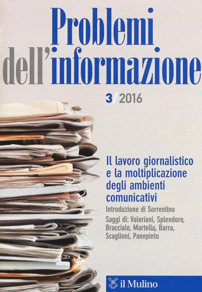 Problemi dell'informazione (2016). Vol. 3.