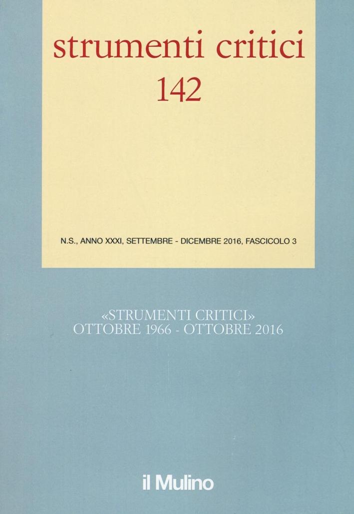 Strumenti critici (2016). Vol. 3