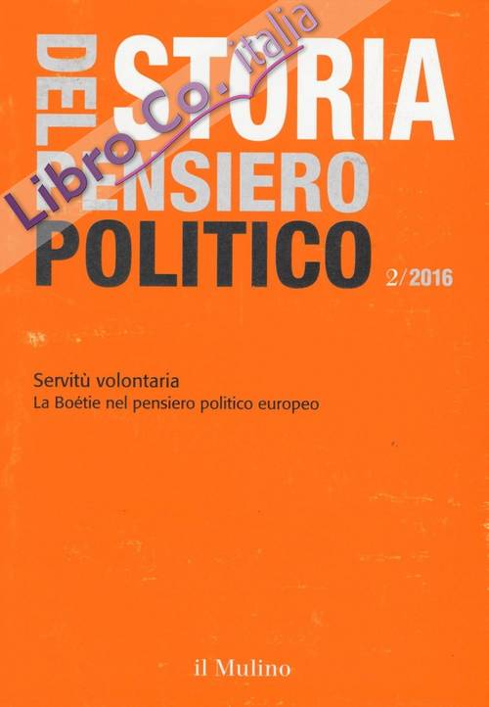 Storia del pensiero politico (2016). Vol. 2.