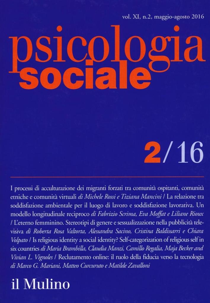 Psicologia sociale (2016). Vol. 2.