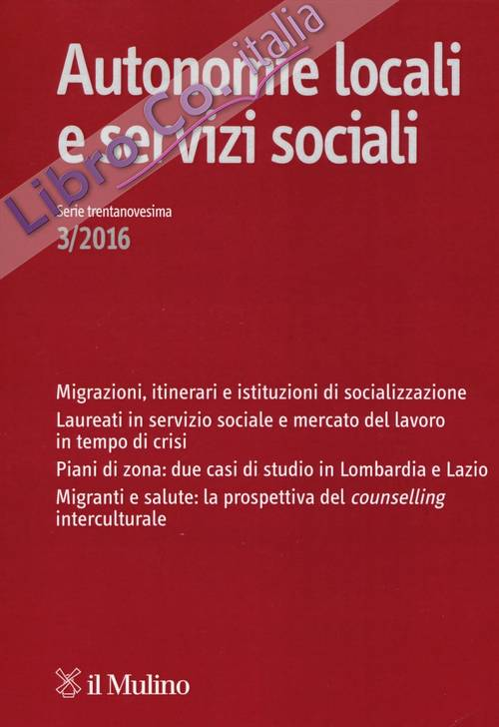 Autonomie locali e servizi sociali (2016). Vol. 3