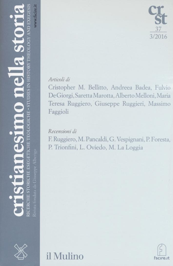 Cristianesimo nella storia  (2016). Vol. 3