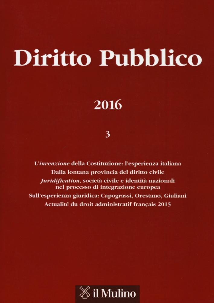 Diritto pubblico (2016). Vol. 3