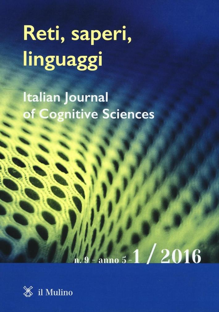 Reti, saperi, linguaggi (2016). Vol. 1.