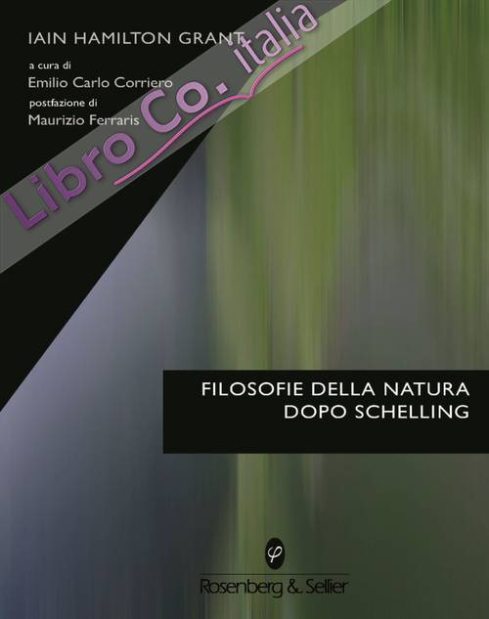 Filosofie della natura dopo Schelling.