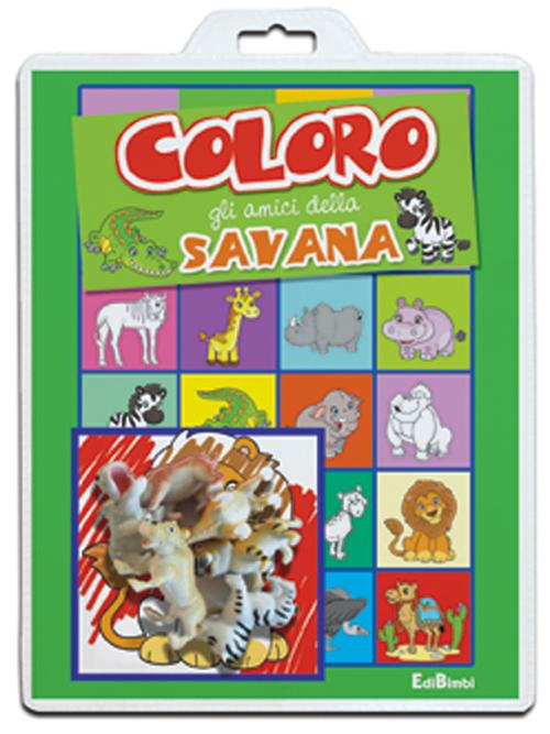 Coloro gli amici della savana. Baby color. Ediz. a colori