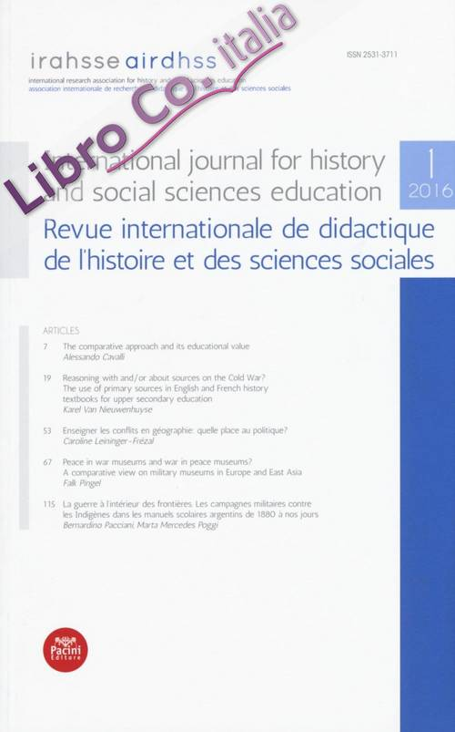 International Journal For History and Social Sciences Education. Revue Internationale De Didactique De l'Histoire Et des Sciences Sociales. 1.2016.