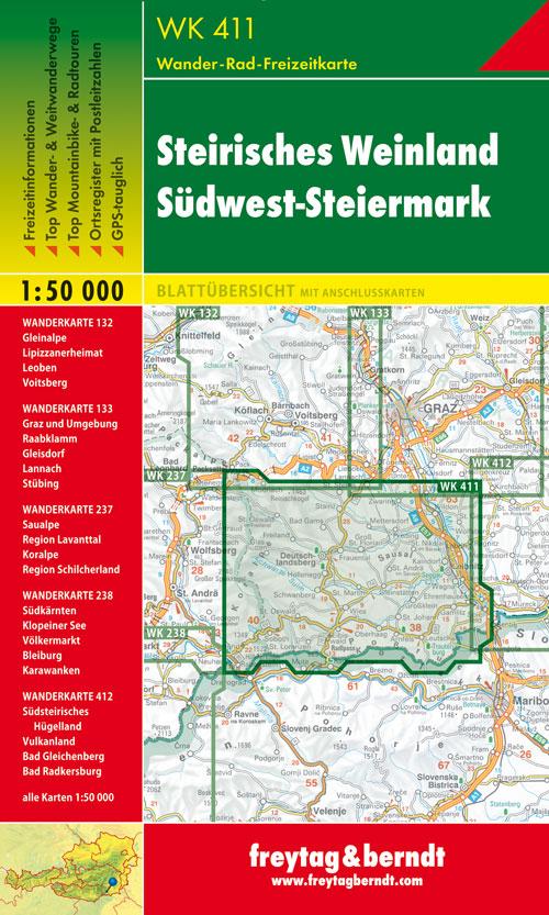 Steirisches Weinland, Südwest-Steiermark 1:50.000.