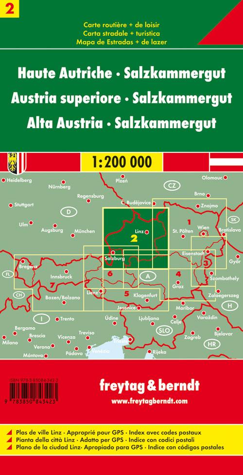 Oberösterreich Salzkammergut 1:200.000.