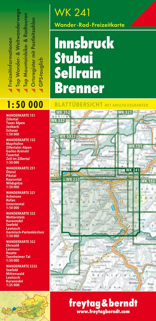 Innsbruck Stubai 1:50.000.