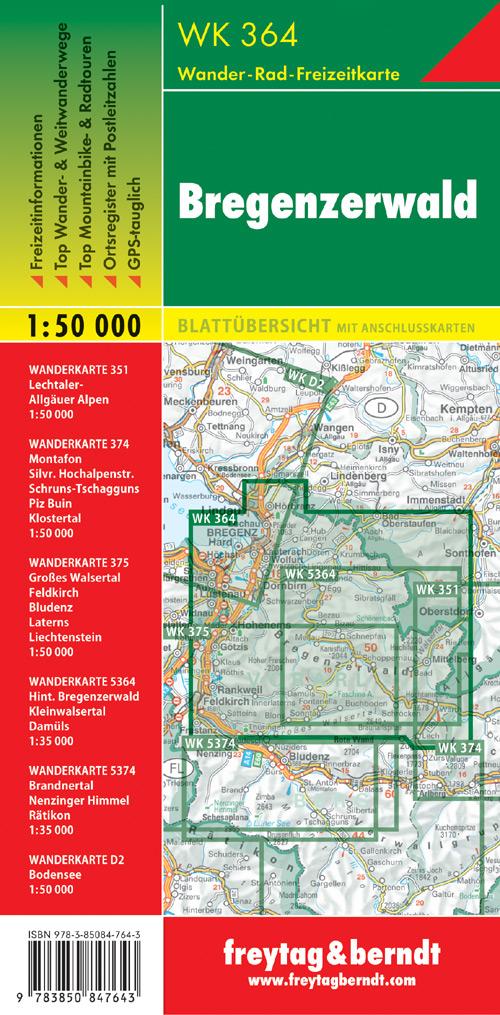 Bregenzerwald 1:50.000.