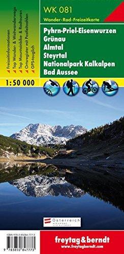 Pyhrn-Priel-Eisenwurzen, Grünau, Almtal, Steyrtal, Nationalpark Kalkalpen, Bad Aussee 1:50.000.