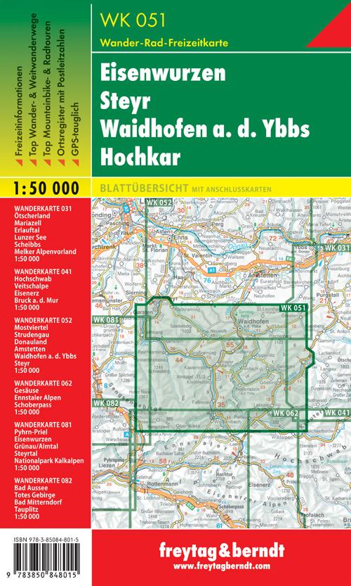 Eisenwurzen, Steyr, Waidhofen a.d. Ybbs, Hochkar 1:50.000