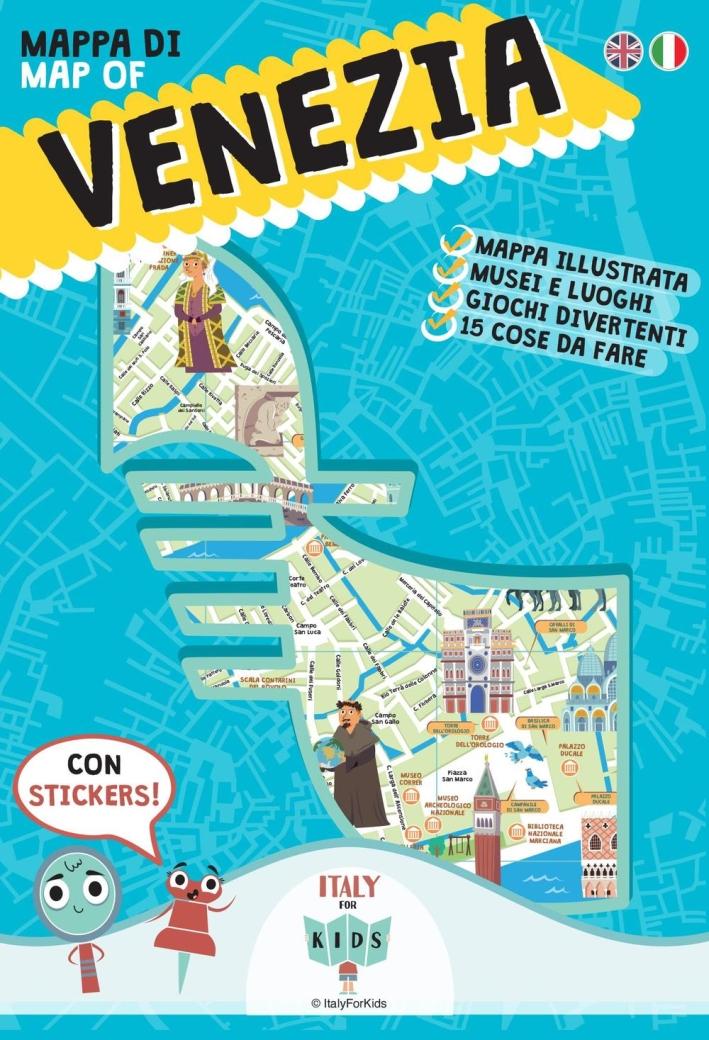 Mappa di Venezia illustrata. Con adesivi