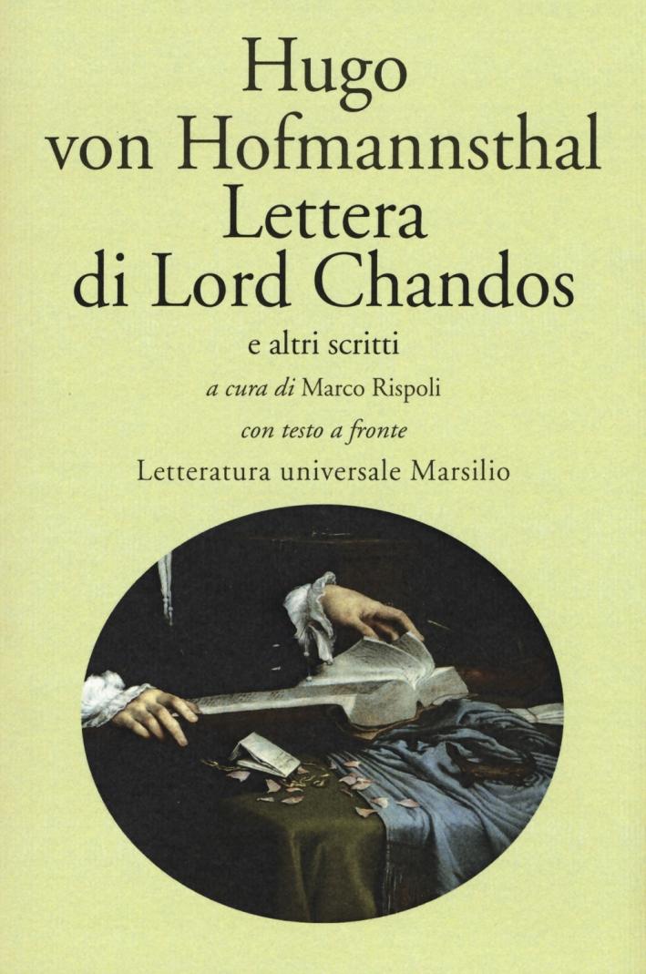 Lettera di Lord Chandos e altri scritti. Testo tedesco a fronte