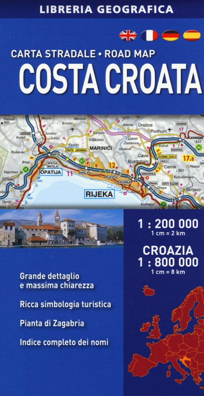 Costa croata 1:200.000. Croazia 1:800.000