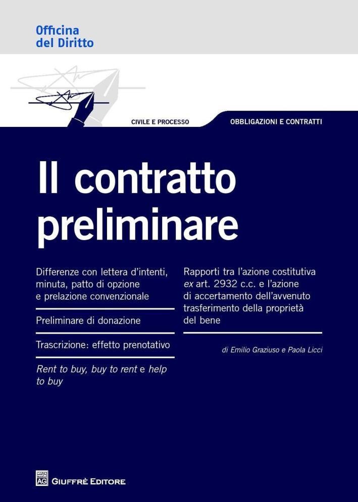 Il contratto preliminare