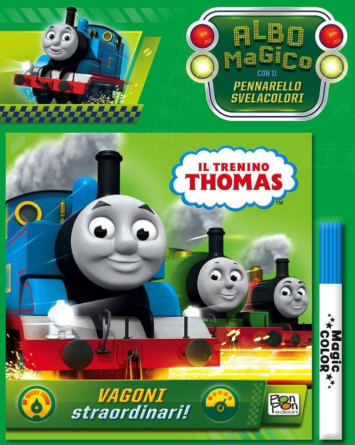 Vagoni straordinari! Thomas & friends. Albo magico. Con pennarello svelacolori