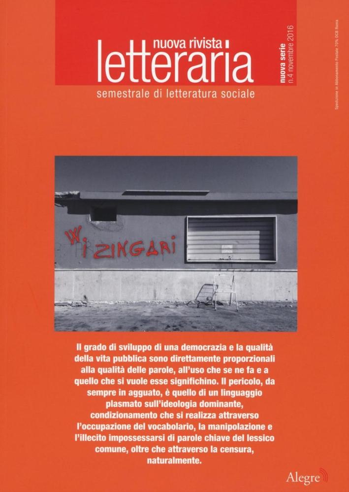 Nuova rivista letteraria (2016). Vol. 4