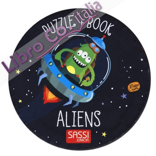 Aliens. Giant puzzle and book