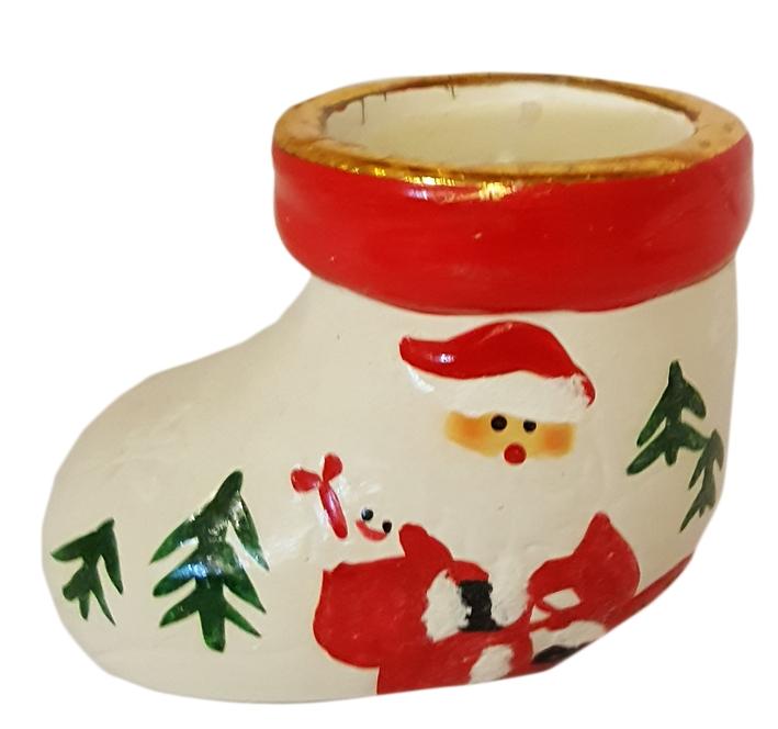 Stivale Natale Porta Candela