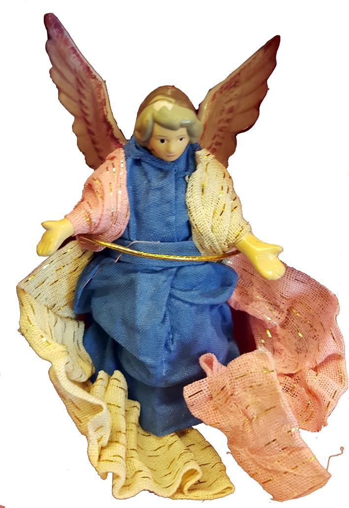 Il mondo del presepe. Statuetta in porcellana. Angelo Cm 10x6.
