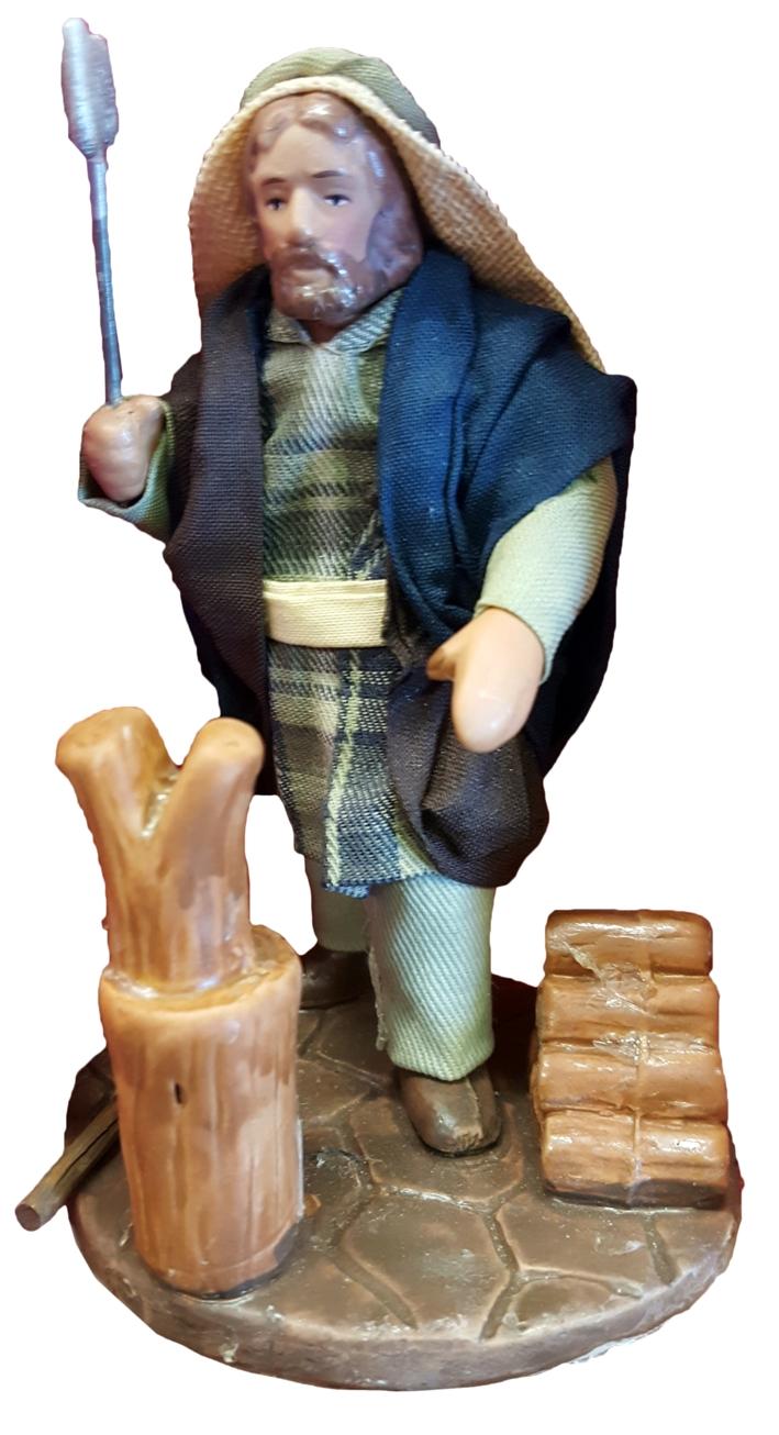 Il mondo del presepe. Statuetta in porcellana. Pastorello. Cm 10x6.
