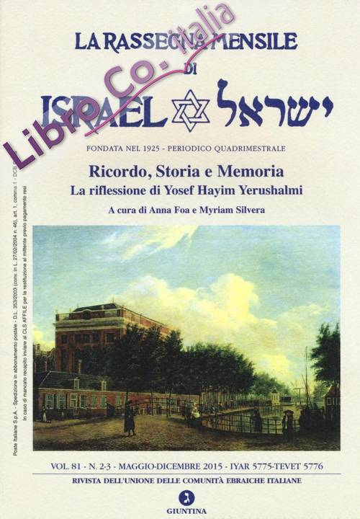 La rassegna mensile di Israel (2015). Vol. 81: Maggio-dicembre