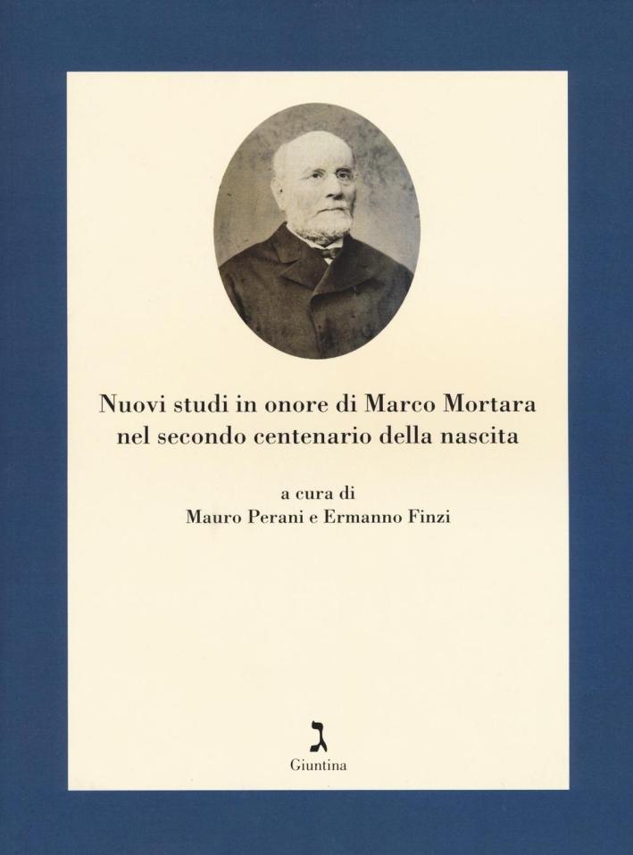 Nuovi studi in onore di Marco Mortara nel secondo centenario della nascita