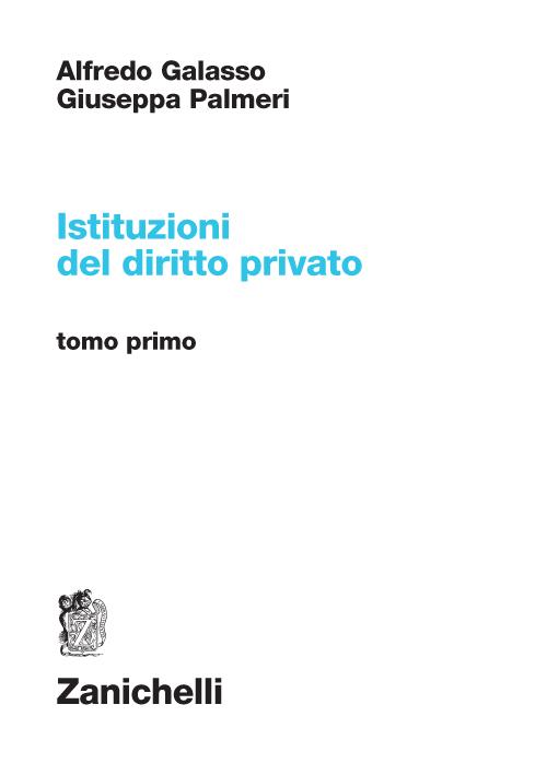 Istituzioni del diritto privato. Vol. 1