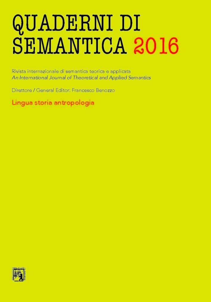 Quaderni di sematica. Nuova serie (2016). Ediz. multilingue. Vol. 2