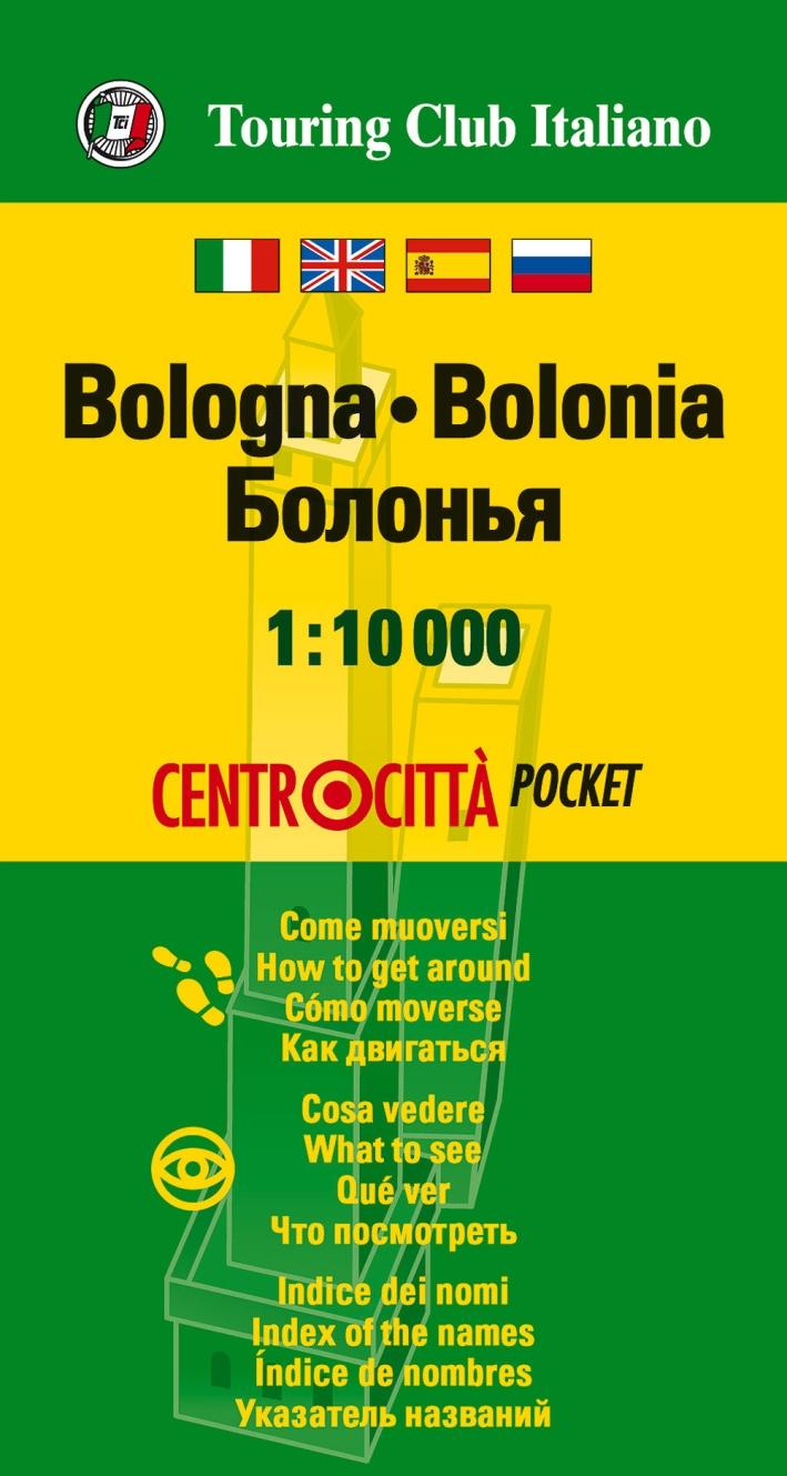 Bologna 1:10.000. Ediz. multilingue