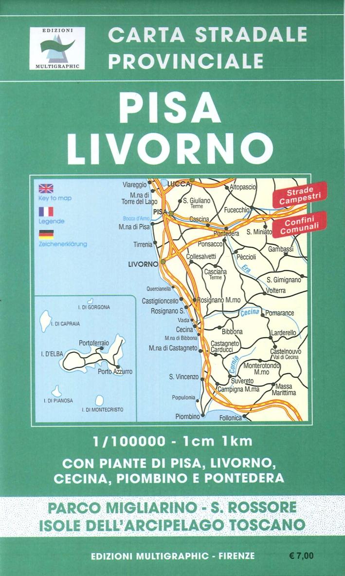 Pisa - Livorno. Scala 1:100000. 224