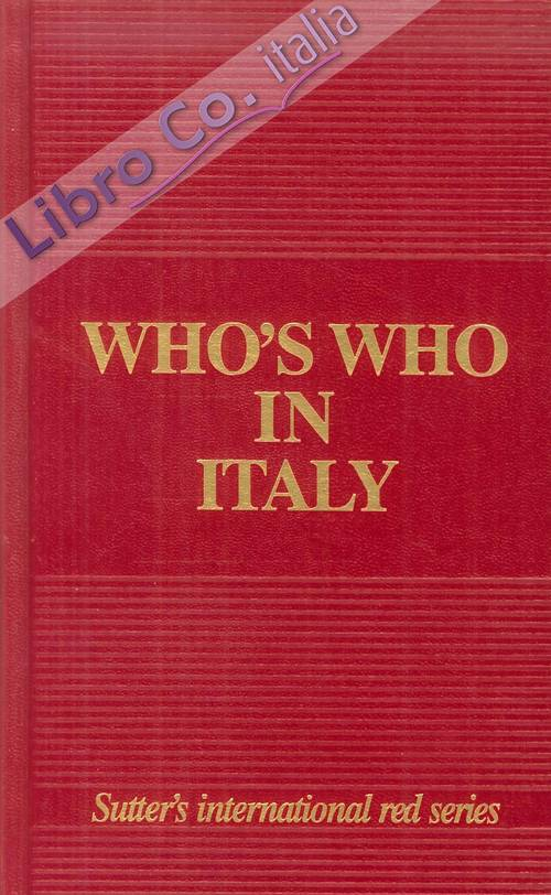 Who's who in Italy 2014 edition