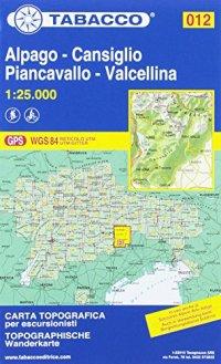 012 - Alpago - Cansiglio - Piancavallo - Valcellina. Carta topografica in scala 1:25.000. Ediz. multilingue