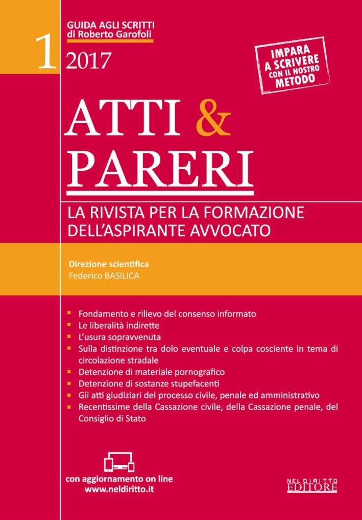 Atti & pareri. Vol. 1