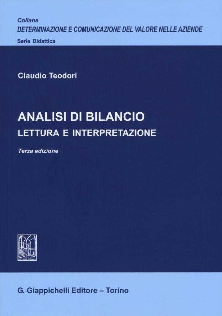 Analisi di bilancio. Lettura e interpretazione