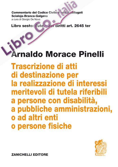 Art. 2645 TER. Trascrizione di atti di destinazione per la realizzazione di interessi meritevoli di tutela riferibili a persone con disabilità, a pubbliche amministrazioni, o ad altri enti o persone fisiche