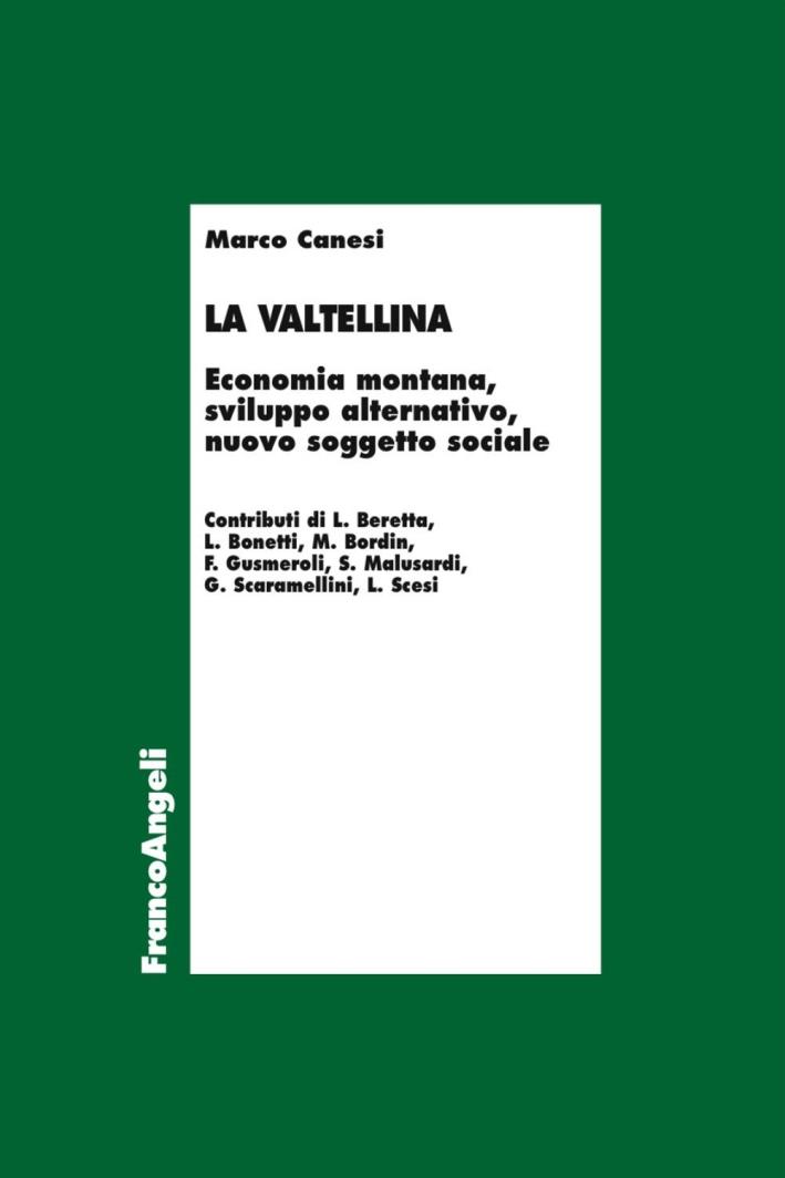 La Valtellina. Economia montana, sviluppo alternativo, nuovo soggetto sociale