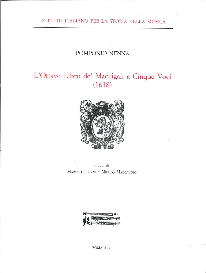 L'Ottavo Libro De' Madrigali a Cinque Voci (1618)