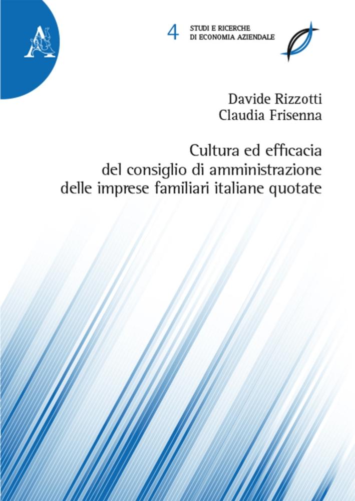 Cultura ed efficacia del consiglio di amministrazione delle imprese familiari italiane quotate