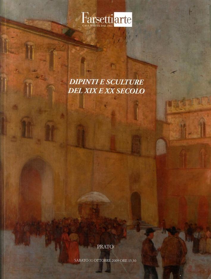 Asta N° 149. Importanti Arredi, Maioliche e Dipinti Antichi Provenienti Da Due Residenze Toscane - Dipinti e Sculture del XIX e XX Secolo